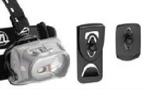 變換系統:可將頭燈自頭帶上移至外衣、皮帶、頭盔等。